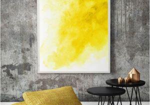 Large Mural Posters Yellow Watercolor Wall Art Modern Wall Poster Watercolor Wall