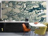 Large Mural Prints Blue Insect Pattern Wallpaper Wall Mural for the Home