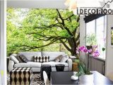 Large Mural Prints Green Tree Wall Paper Wall Print Decal Wall Deco Indoor Wall Mural