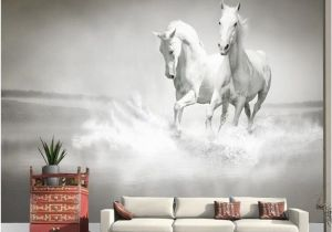 Large Murals for Walls Photo Wallpaper Horse White Horse Large Mural Continental Back Wall