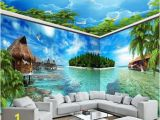 Large Scale Wall Murals Beibehang Maldives Sea View island Full House Custom Mural