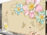 Large Scale Wall Murals Feifan Custom Scale Wallpaper Light Luxury Simple Three Color 3d Relief Yellow Flower Background Wall Murals Xp Wallpapers Yellow