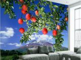Large Scale Wallpaper Murals 3d Scale Mural Apple Tree Wallpaper Living Room Bedroom Tv