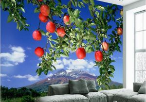 Large Scale Wallpaper Murals 3d Scale Mural Apple Tree Wallpaper Living Room Bedroom Tv
