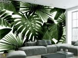 Large Scale Wallpaper Murals Beibehang Modern Custom 3d Wallpaper Tropical Rain forest Palm