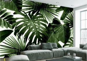 Large Scale Wallpaper Murals Beibehang Modern Custom 3d Wallpaper Tropical Rain forest Palm