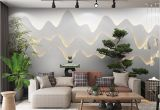 Large Scale Wallpaper Murals Retail 3d Three Dimensional Zen Garden Landscape Background Wall