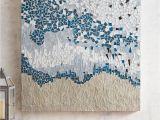 Large Tile Wall Murals Navy Abstract Mosaic Wall Panel