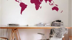 Large Vinyl Wall Murals Vinyl Wall World Map Decal Removable Detailed World Map