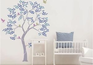 Large Wall Mural Stencils Tree Stencil From the Stencil Studio Includes Leaves