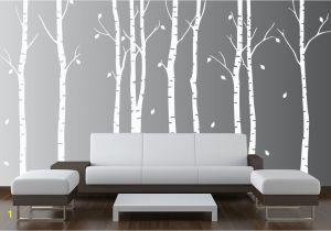 Large Wall Mural Stencils Wall Birch Tree Nursery Decal forest Kids Vinyl