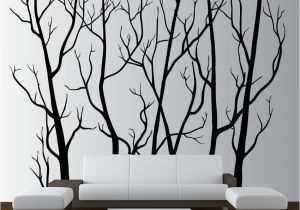Large Wall Mural Stencils Wall Vinyl Tree forest Decal Removable 1111