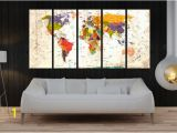 Large Wall Murals Canvas Push Pin World Map Wall Decal Canvas Print World Map Wall Art Set Of
