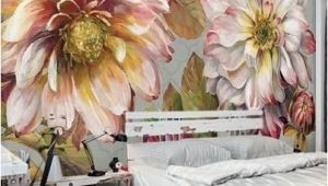 Large Wall Murals Flowers Vintage Flower Leaves Idcwp Wallpaper Wall