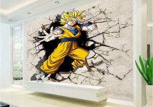 Large Wall Murals for Sale Dragon Ball Wallpaper 3d Anime Wall Mural Custom Cartoon