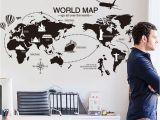 Large World Map Wall Mural Us $7 52 New Creative World Map Large Wall Stickers Home Decor Living Room Diy Mural Decals Removable Wallpaper In Wall Stickers From Home & Garden