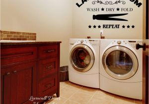 Laundry Room Murals Laundry Room Wall Sticker Wash Dry Fold Repeat Laundry Room