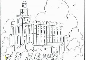Lds Coloring Pages Temple 19 Fresh Lds Temple Coloring Pages