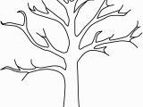Leafless Tree Coloring Page Tree Printable Template Elitasushi