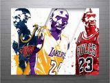 Lebron James Wall Mural 5 Panel Nba Lebron James Basketball Poster Canvas Printed