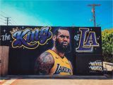 Lebron James Wall Mural Artist Erases Lebron James Lakers Mural after It S