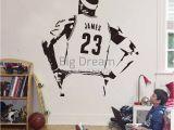 Lebron James Wall Mural Wall Stickers Basketball Nba Star Wall Sticker Lebron James