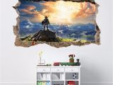 Legend Of Zelda Wall Mural 6 99 Gbp Link Legend Zelda 3d Smashed Wall Sticker Decal Home