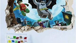 Lego Batman Wall Mural Getek Cool Batman Art Vinyl Wall Stickers Wall Decals Mural