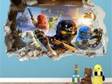 Lego City Wall Mural Lego Ninjago Smashed Wall Sticker 3d Bedroom Boys Girls Vinyl Wall