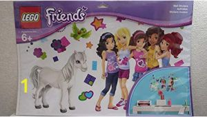 Lego Friends Wall Mural Amazon Lego Friends Wall Stickers toys & Games