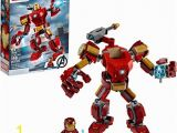 Lego Iron Man Coloring Pictures Lego Marvel Avengers Iron Man Mech Kids Superhero Mech Figure Building toy with Iron Man Mech and Minifigure New 2020 148 Pieces