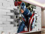 Lego Superhero Wall Mural 3d Captain America Wallpaper Avengers Wallpaper Cool