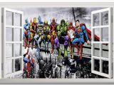 Lego Superhero Wall Mural Custom Canvas Wall Decoration Marvel Dc Superheroes Poster