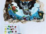 Lego Superhero Wall Mural Getek Cool Batman Art Vinyl Wall Stickers Wall Decals Mural