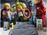 Lego Superhero Wall Mural Rabatt Jungen Tapeten Wandmalereien