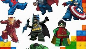 Lego Superhero Wall Mural Super Heroes Lego Marvel Kids Bedroom Vinyl Decal Wall Art
