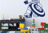 Lego Wall Murals Cartoon Lego Captain America Wall Sticker Boys Room Baby Nursery