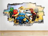 Lego Wall Murals Uk Details About H986 Lego Ninjago toys Tv Kids Smashed Wall