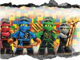 Lego Wall Murals Uk Lego Ninjago Wall Stickers Kids 3d Decal Breakout Smashed