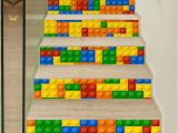 Lego Wall Murals Uk Self Adhesive 3d Stairs Stickers Lego Children Renovation