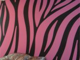 Leopard Print Wall Mural Super Cool Pink and Black Zebra Walls Painted by Chris W