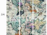 Leopard Print Wall Mural World Map Animal Light Wall Mural
