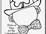 Leprechaun Face Coloring Page Coloring Pages for St Patricks Day New St Patricks Day Color Pages