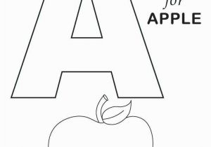 Letter A for Apple Coloring Pages Alphabet Coloring Pages Pdf Luxury the Letter A Coloring Page My A