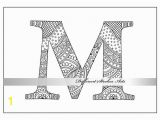 Letter M Coloring Pages for Adults Adult Coloring Book Zentangle Alphabet Letter M