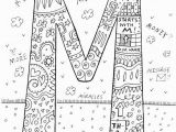 Letter M Coloring Pages for Adults Monogram Coloring Letter Coloring Page Coloring by