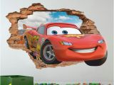 Lightning Mcqueen Wall Mural Disney Cars 3d Wall Decal Lightning Mcqueen Wall Sticker