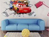 Lightning Mcqueen Wall Stickers Mural ➹ New 3d Cars Lightning Mcqueen Mater Wall Sticker Decal Kids Room Mural