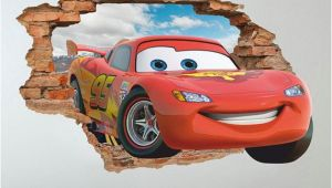 Lightning Mcqueen Wall Stickers Mural Disney Cars 3d Wall Decal Lightning Mcqueen Wall Sticker