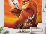 Lion King Wall Mural 3d Custom the Lion King Tapestry Throw Wall Hanging